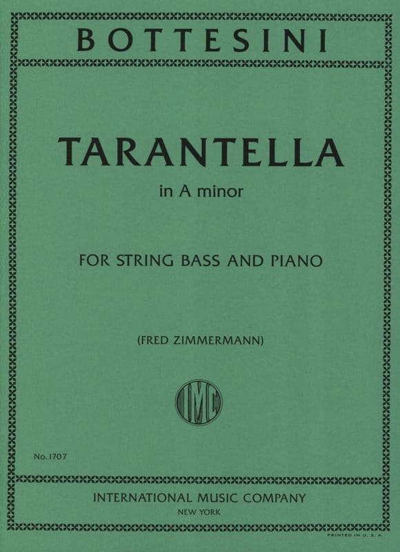 Tarantella in A minor - BOTTESINI - Partition - laflutedepan.com