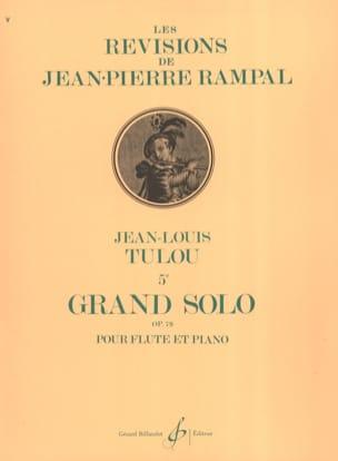 5ème Grand Solo Op. 79 Jean-Louis Tulou Partition laflutedepan