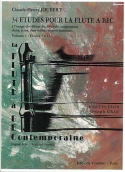 34 Etudes pour la Flute à Bec - Volume 1 - 1 à 17 laflutedepan