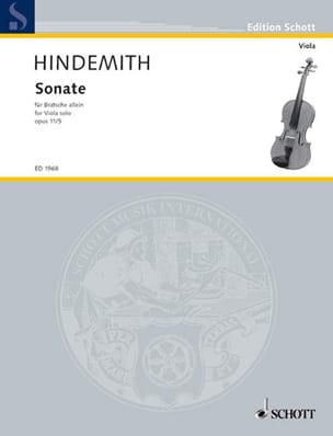 Sonate, op. 11 n° 5 HINDEMITH Partition Alto - laflutedepan