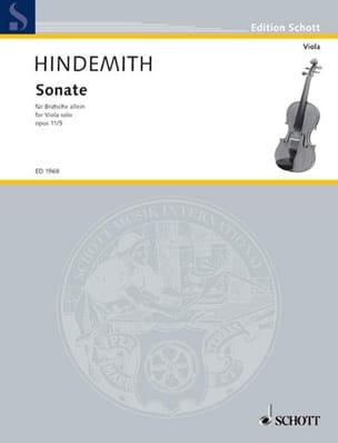 Paul Hindemith - Sonata, op. 11 n ° 5 - Partition - di-arezzo.com