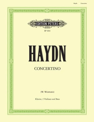 Concertino C-Dur Kl. 2 Vln. Vc -Stimmen + Partitur HAYDN laflutedepan