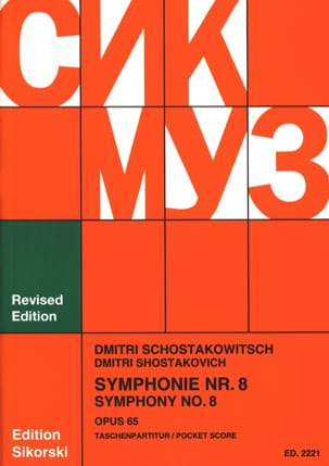 Symphonie Nr. 8 op. 65 - Partitur CHOSTAKOVITCH Partition laflutedepan