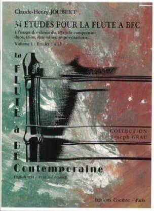 34 Etudes pour la Flute à Bec - Volume 1 - 1 à 17 - laflutedepan.com