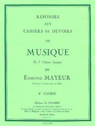Réponses aux devoirs n° 4 - Edmond Mayeur - laflutedepan.com