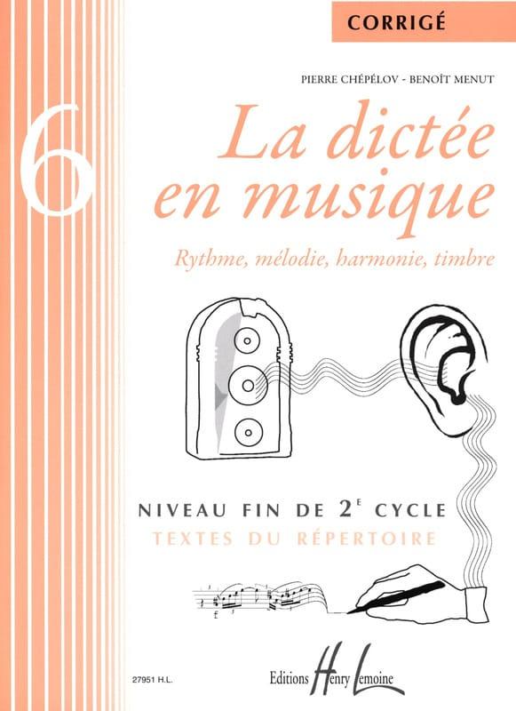 La Dictée en Musique - Corrigé - Volume 6 - laflutedepan.com