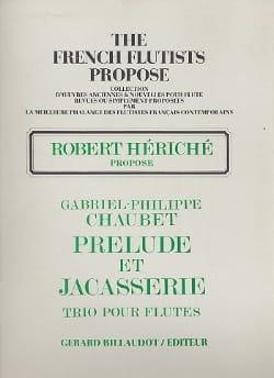 Prélude et Jacasserie Gabriel Philippe Chaubet Partition laflutedepan