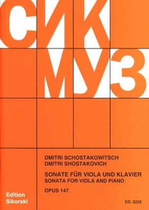 Sonate für Viola und Klavier, op. 147 CHOSTAKOVITCH laflutedepan