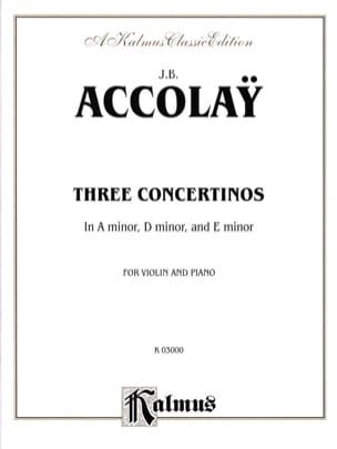 3 Concertinos Jean-Baptiste ACCOLAY Partition Violon - laflutedepan