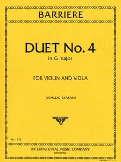 Duet n° 4 in G major Jean Barrière Partition 0 - laflutedepan