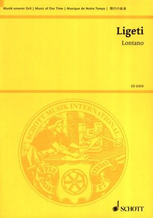 Lontano - Partitur LIGETI Partition Grand format - laflutedepan