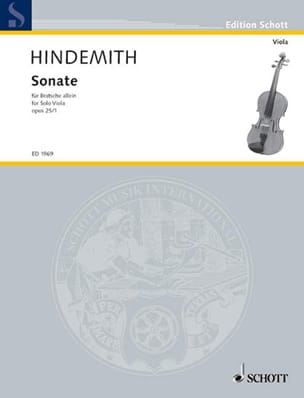 Sonate, op. 25 n° 1 HINDEMITH Partition Alto - laflutedepan