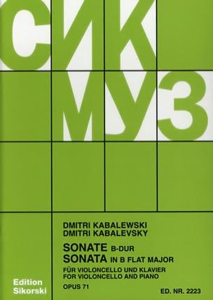 Sonate op. 71 Dimitri Kabalevski Partition Violoncelle - laflutedepan