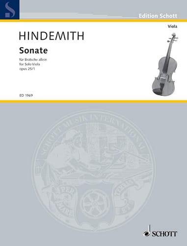 Sonate, op. 25 n° 1 - HINDEMITH - Partition - Alto - laflutedepan.com