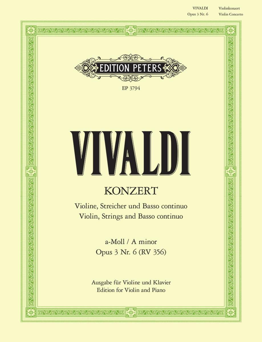 Concerto Violon la mineur op. 3 n° 6 RV 356 - laflutedepan.com