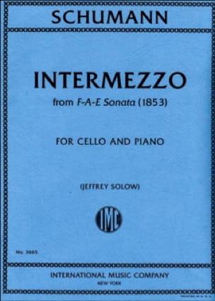 Intermezzo de la Sonate F-A-E 1853 - SCHUMANN - laflutedepan.com