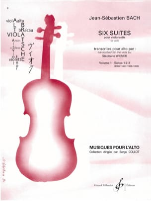 BACH - 6 Suites For Cello Vol 1 - Transcription For Viola - Partition - di-arezzo.com
