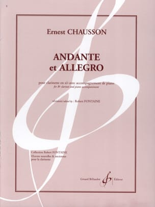 Andante et Allegro CHAUSSON Partition Clarinette - laflutedepan