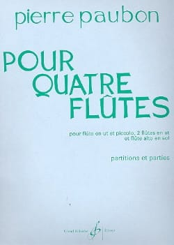 Pour quatre flûtes Pierre Paubon Partition laflutedepan