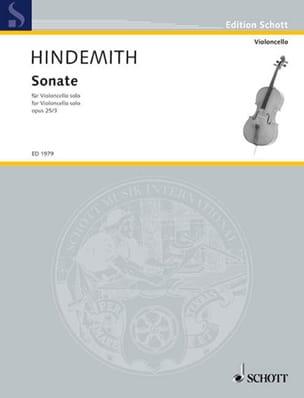 Sonate op. 25 n° 3 HINDEMITH Partition Violoncelle - laflutedepan