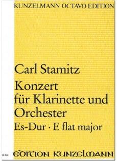 Konzert für Klarinette Es-Dur - Partitur STAMITZ laflutedepan