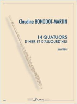 14 Quatuors.. - 4 Flûtes Claudine Bonodot-Martin laflutedepan