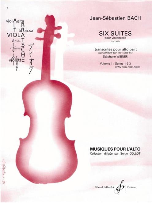 6 Suites Pour Violoncelle Vol 1 - Transcription Pour Alto - laflutedepan.com