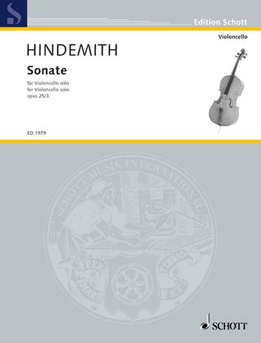 Sonate op. 25 n° 3 - HINDEMITH - Partition - laflutedepan.com