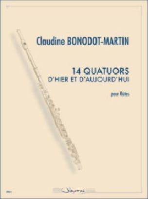 14 Quatuors.. - 4 Flûtes - Claudine Bonodot-Martin - laflutedepan.com