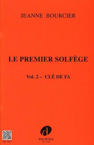 Le premier solfège - Volume 2 : Clé de Fa Jeanne Bourcier laflutedepan