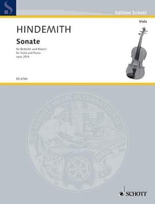 Sonate, op. 25 n° 4 HINDEMITH Partition Alto - laflutedepan