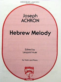 Hebrew Melody Joseph Achron Partition Violon - laflutedepan