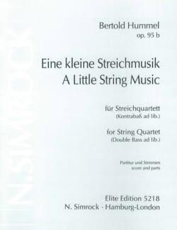 Eine kleine Streichmusik op. 95b -Partitur + Stimmen laflutedepan