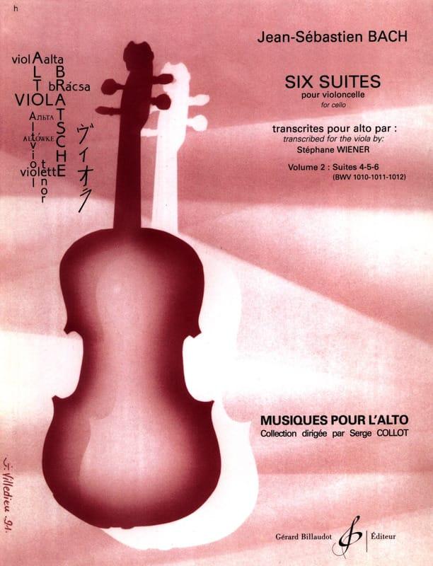 6 Suites pour Violoncelle Transcrites pour Alto Vol. 2 - laflutedepan.com