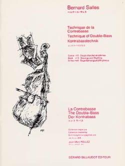 Technique de la Contrebasse Volume 3 Bernard Salles laflutedepan
