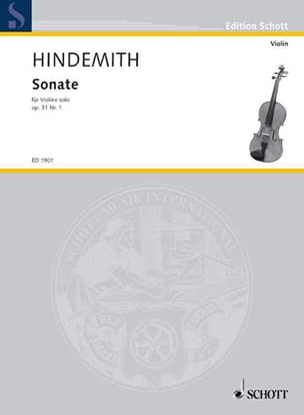 Sonate op. 31 n° 1 HINDEMITH Partition Violon - laflutedepan
