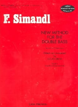 New method for the double bass, Volume 1 Franz Simandl laflutedepan