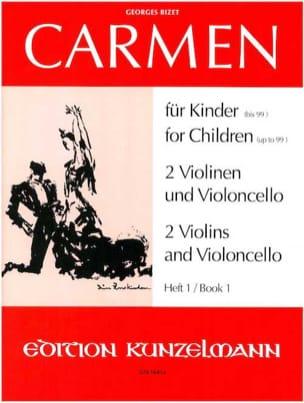 Carmen für Kinder, Heft 1 - 2 Violinen Cello - Stimmen laflutedepan