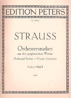Orchesterstudien Violine - Bd. 2 - Richard Strauss - laflutedepan.com