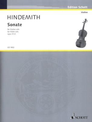 Sonate opus 31 n° 2 HINDEMITH Partition Violon - laflutedepan