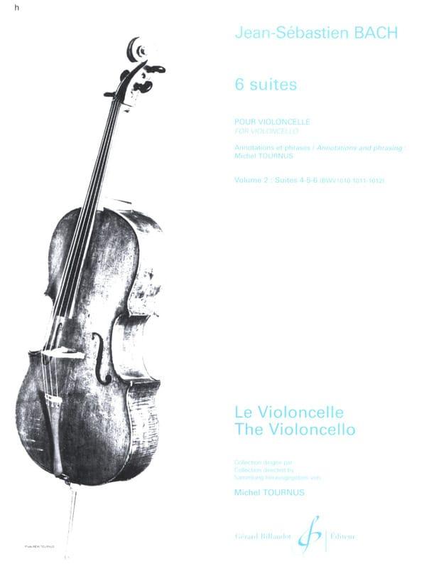 6 Suites, Volume 2, Suites 4 à 6 - BACH - Partition - laflutedepan.com