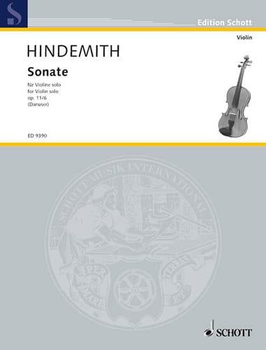Sonate op. 11 n° 6 - HINDEMITH - Partition - Violon - laflutedepan.com