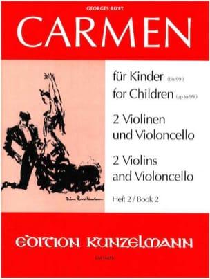 Carmen für Kinder, Heft 2 - 2 Violinen Cello - Parts laflutedepan