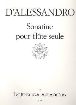 Sonatine op. 19 - Flûte seule Raffaele d' Alessandro laflutedepan