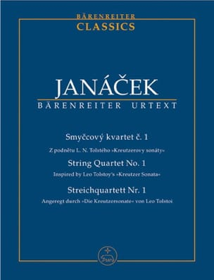 String Quartet N°1 JANACEK Partition Petit format - laflutedepan