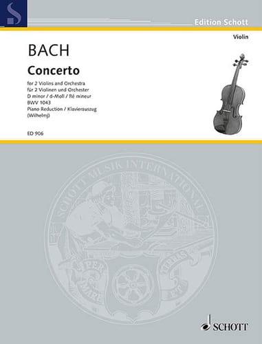 Concerto d-moll BWV 1043 -2 Violinen Klavier - laflutedepan.com