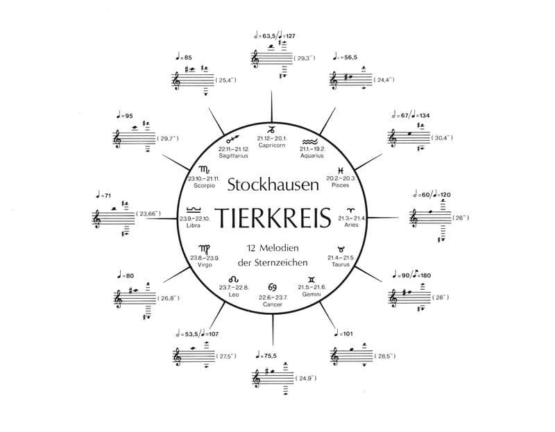 Tierkreis - Partitur - STOCKHAUSEN - Partition - laflutedepan.com
