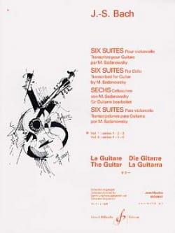 6 Suites Guitare - Volume 1 : Suites n° 1, 2, 3 BACH laflutedepan