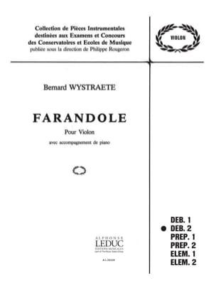 Farandole Bernard Wystraete Partition Violon - laflutedepan