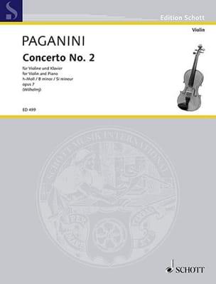 Concerto Violon N° 2 Si Mineur Opus 7 PAGANINI Partition laflutedepan